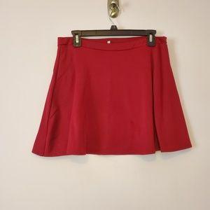 Charlotte Russe Red Skater Skirt Large